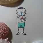 はんこアルバム②かき氷を食べる男の子